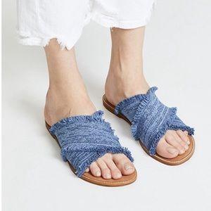 Splendid Denim Criss Cross Sandals
